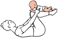 vježbe za bebe - avion položaj
