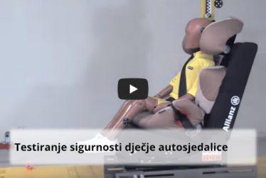Allianz test dječje autosjedalice
