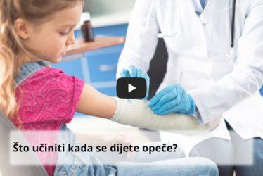opekline kod djece - što učiniti kada se dijete opeče