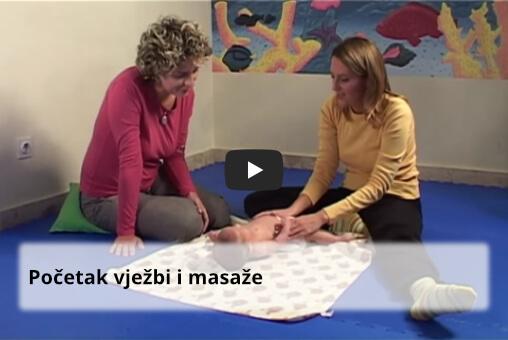 početak vježbi i masaže djeteta