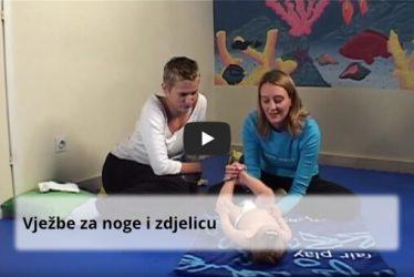 Vježbe za noge i zdjelicu za bebe - littledot